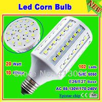 20w corn bulb light e27 102 led_free shipping smd5050 Epistar 360 degree lamp 110v/220v_E26 screw wholesale china lampen