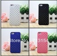 1pcs Free Shipping+ For  Iphone 5 Rhinestone Diamond Bling Glitter Hard Back Case Cover For 5G