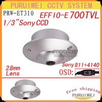 "1/3"" SONY Effio-e 700TVLine 2.8mm lens Wide Angle 90 with OSD menu degress Dome/mini CCTV Camera.Free Shipping!!!"