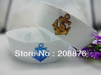 Good quality custom design front patch logo cotton party sailor captain cap hat boating Marine cap hat