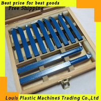 Free shipping 10*10mm 11pieces Precision hard alloy Turning Tool, lathe tool Kits cutter, cutting tools with wooden case