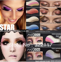 Free shipping  ,Newest 42 colrs 6pairs=1box Instant Eyeshadow sticker, magic eyes tattoo ,eye sticker