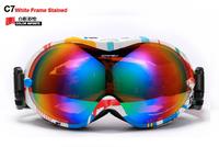 Free shipping,Dual PC lens Dual layer foams Anti-fog, 100% uv protection ski goggles/riding eyeglasses outdoor eyeglasses  OK266