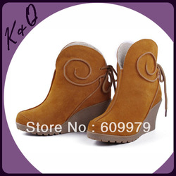 Wholesale Top Grade Parkskin Boot with Unique Snail Design Genuine Leather Fashion Shoes For Women(China (Mainland))