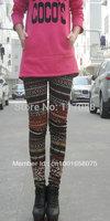 Free Shipping ML7562 Winter Warm Leggings Ladies Skinny Mixed Colors Cotton Leggings