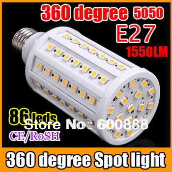 [ E27 86 LEDs Corn Light ] 15W led Bulb 1550LM 360 degree 5050  Energy Saving  free shipping
