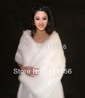 Red / Ivory / Black / White Faux Fur Wedding Scarf Bridal Shawl Wrap