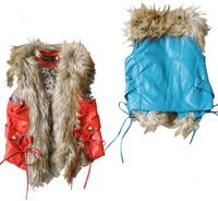 2014 Quality Fur Girl Vest For Girl Wear for  Babywear Fashion Clothing European Popular High-end Leather Outwear