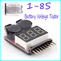 1-8S Lipo/Li-ion/Fe Battery Voltage 2IN1 Tester Low Voltage Buzzer Alarm Hot Selling