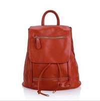 2013 new fashion leisure college agitation packet backpack female bag real leather bag and hand bag