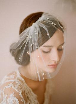 F001 - Stunning 1-layer tulle fine short wedding veil birdcage bridal veils hair mantilla veil wedding decoration  accessories