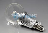 10Pcs/Lot New 3W LED E14 Globe Bulb Light  Bubble Ball Lighting Warm White Lamp High Power AC 85~265V 3079