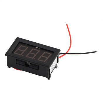 1Pcs Mini Digital Voltmeter 4.5-30V Red LED Vehicles Motor Voltage Panel Meter