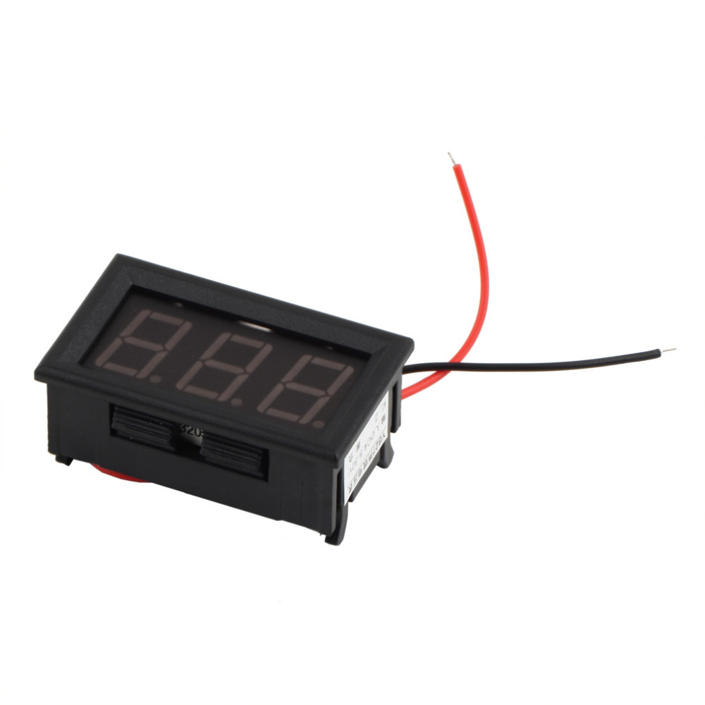 1Pcs Mini Digital Voltmeter 4.5-30V Red LED Vehicles Motor Voltage Panel Meter(China (Mainland))