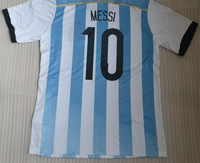 2014 MESSI 10 home top thai quality soccer jersey(only shirts) MESSI MASCHERANO KUN AGUERO LAVEZZI jersey +custom names&numbers
