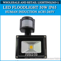 LED Flood Lights Human induction led flood light 50W IP65 AC85-265V warm white / Cold white Free shipping