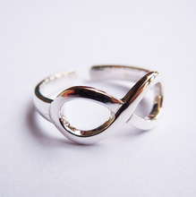 Sterling Silver Infinity Toe Ring Handmade All size Open Back Ring Ajustable
