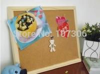 Free shipping bulletin board cork board be hanging Cork   Message Board nail style20*30cm