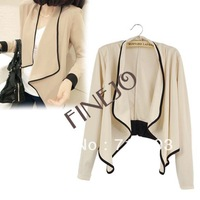 Women's Ladies Long Sleeve shoulder pad All-Match Loose Short Jacket Coat Free shipping 7983 WY