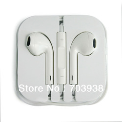 Brand New EarPods Earphone Headphone With Remote & Mic For Apple IPhone 5 5G With Retail Box Free Shipping(China (Mainland))