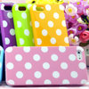 Free Shipping Lovely Polka Dots TPU Soft Silicone Case Cover Skin For iPhone 4 4S 4G