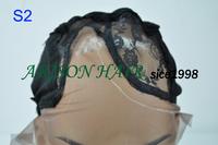 Black middle side part black Instock wholesale price adjustable u part wig making caps/u part cap
