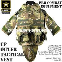 CP OTV MOLLE Compatible Modular Military Camouflage interceptor Tactical Vest sets Combat Body Armor Vest Adjustable Size TV-03