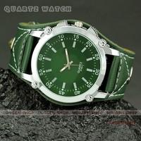 MINGEN SHOP - Hot Young Men women outdoor sport Big Dial Multicolor Wide Leather Band Casual quartz watch