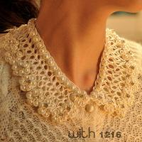 Free shipping hot market of 2013 new hollow fake collar wholesale Korean white handmade  crochet false collar