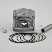 High performance 49mm bore Chromium aluminium motorcycle piston kit for  GSX250 74A