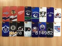 Free shipping 5pcs/lot case for ice hockey team Blackhawks Ducks Penguins Capitals Canucks team case  For iphone 5 5s