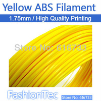 Free shipping Yellow  3D Printer 1.75mm ABS Filament Spool MakerBot Creator Adventure come3D