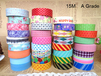 Free Shipping(20pcs/lot)+ A grade 15m Lovely Washi tape Masking Tape +wholesale+ promotion!!!