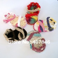 Baby crochet sandals first walker shoes infant cross slippers mothercare 14pairs/lot  cotton yarn custom