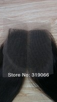 Queen Brazilian virgin hair middle part straight lace top closure