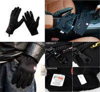 Black Windstopper Soft & Warm Simulated Leather Windproof Waterproof Outdoor Gloves M/L/XL three size, freeshipping