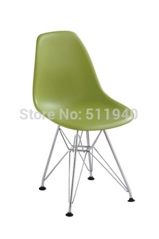 EMS shipping!1 piece ABS seat steel leg  kids DSR eames dining chair.