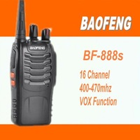 Freeshipping 2 pcs New UHF16CH Walkie Talkie Two-Way Radio bf-888s Ham CB radio Interphone Transceiver Mobile Portable  BF888s