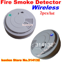 New wireless smoke detector 433 for home security alarm system, free shipping wireless sensor smoke fire 2pcs/lot