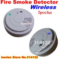 New wireless smoke detector 433 for home security alarm system, free shipping wireless sensor smoke fire 2pcs/lot