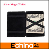 7 Color Business ID Credit Card Holder Magic Wallet PU Leather Magic Purse 20pcs Free Shipping