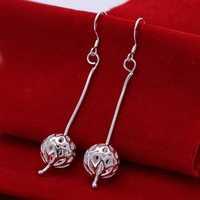 Hot Sell!Wholesale 925 silver earring,925 silver fashion jewelry Earrings,Snake Chain Ball Earring SMTE167