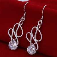 Hot Sell!Wholesale 925 silver earring,925 silver fashion jewelry Earrings,Twisted Stone Earring SMTE202