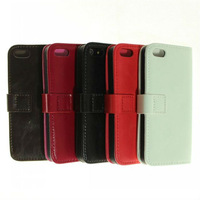 Free Shipping Bulk Top Quality Crazy Horse Luxury Leather Case for Iphone 5 5g Cover for iphone5 Cell Phone Accessories