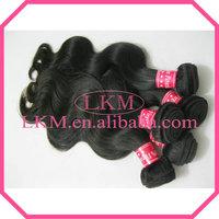 Fast Free Shipping 4pcs/lot 12''-30'' Unprocessed Peruvian Virgin Hair Body Wave 5A Natural LKM Peruvian Hair