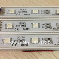 200pcs DC12V 5050 RGB 3 LED IP65 Module Waterproof IP65+Free Shipping