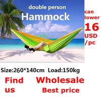 Double person hammock tourism camping hammock survival 260*140cm 20pcs