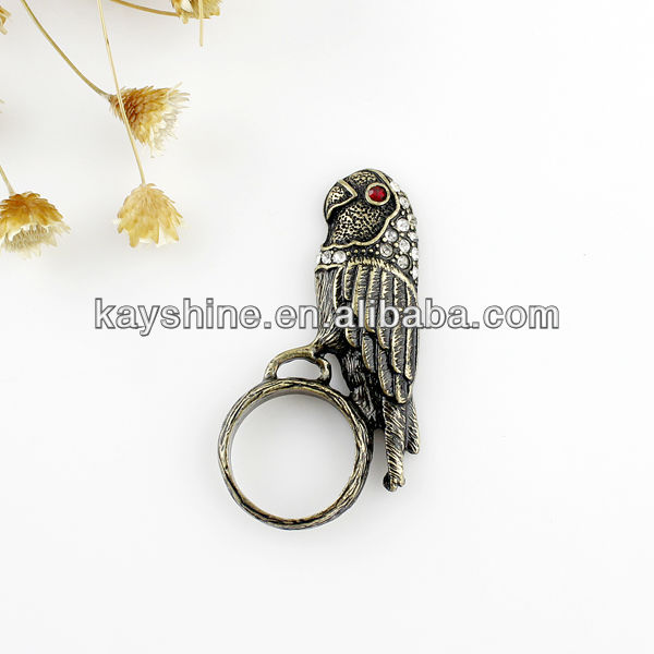 Unique alloy hot sale parrot ring with free shipping(China (Mainland))