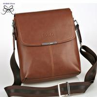 Hot ! 2014 Polo fashion shoulder bag for men high quality genuine leather business messenger bag  black brown cross body bag