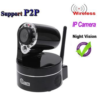 Wireless IP Camera WiFi  Webcam IR Nightvision P/T 2-Audio CCTV Camera ,S86 support P2P IP Cameras